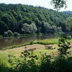 Widok na rzekę San z Leska