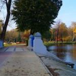 Park miejski nad stawem w Zgierzu
