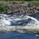 Kamienisty wodospad w Łyszkowicach nad Wartą
