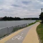 Zalew na rzece Moszczenica w Strykowie